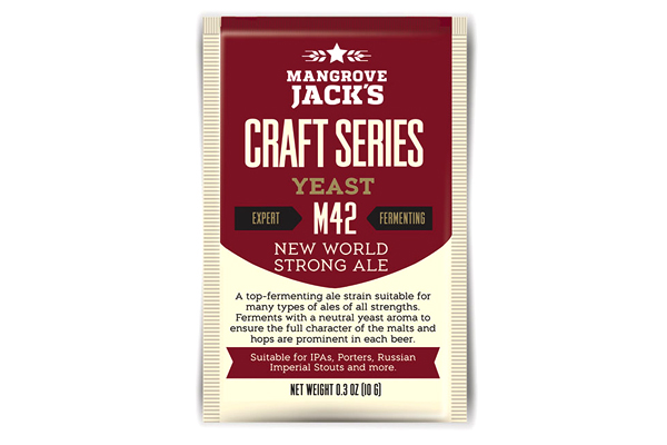 Дрожжи Mangrove Jack's NEW WORLD STRONG ALE M-42 10г