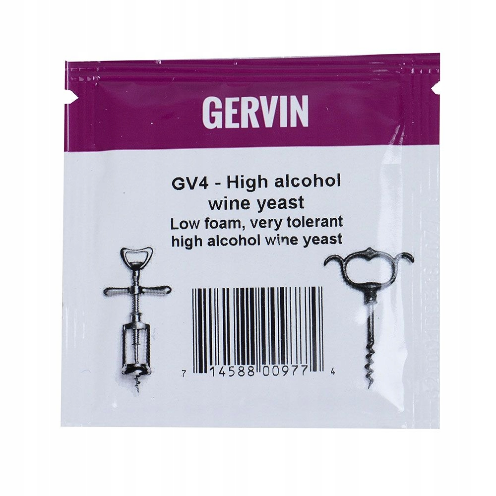 Дрожжи Gervin  GV4 High Alcogol Wine Винные 5г