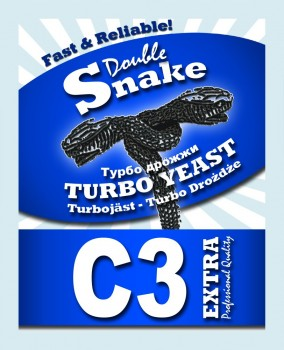 Дрожжи DoubleSnake C3 Turbo 90г
