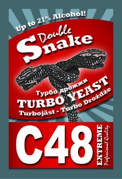 Дрожжи DoubleSnake C48 Turbo 130г