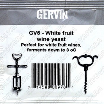 Дрожжи Gervin  GV5 White Fruit Wine Винные 5г